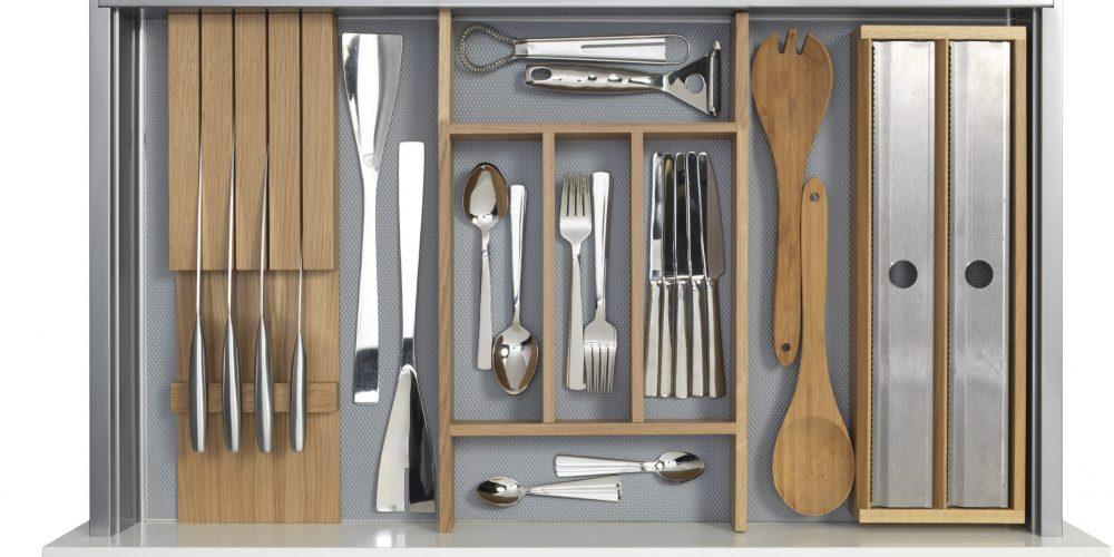 Knife Block Cutlery Tray Roll Dispenser