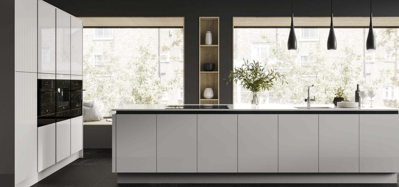 budget gloss kitchen