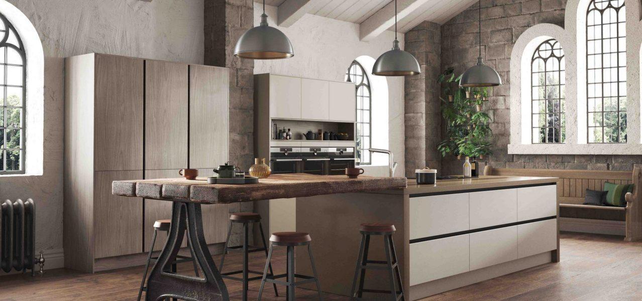 walnut modern kitchen
