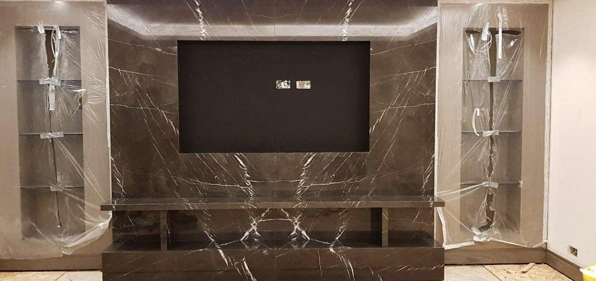 Marble TV Feature Wall