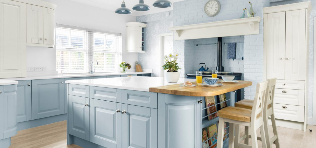 Blue traditional kitchen