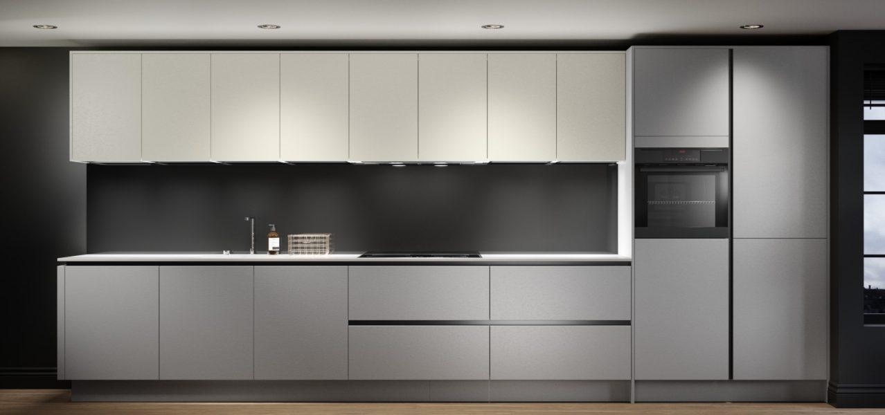 Concrete kitchen modern grey